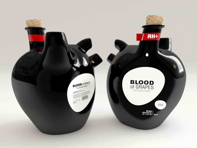 garrafa de vinho criativa
