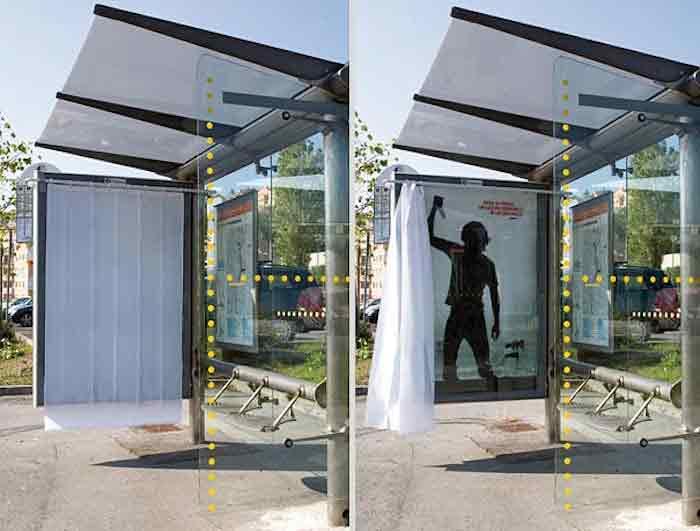 pontos de ônibus criativos
