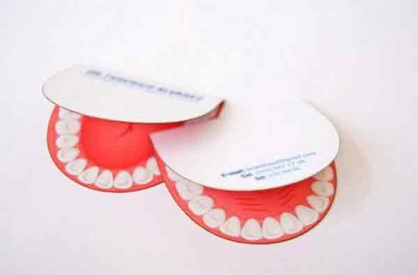 Cartão de visita criativo dentista
