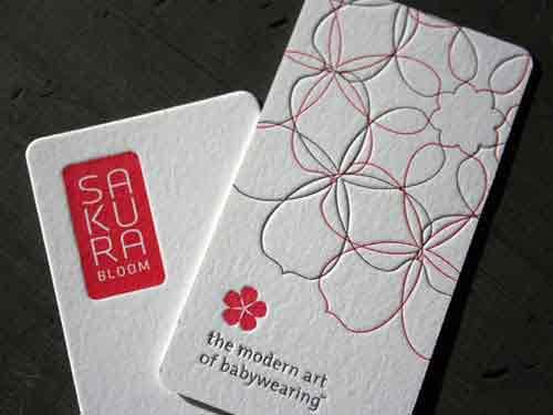 Cartão de visita criativo